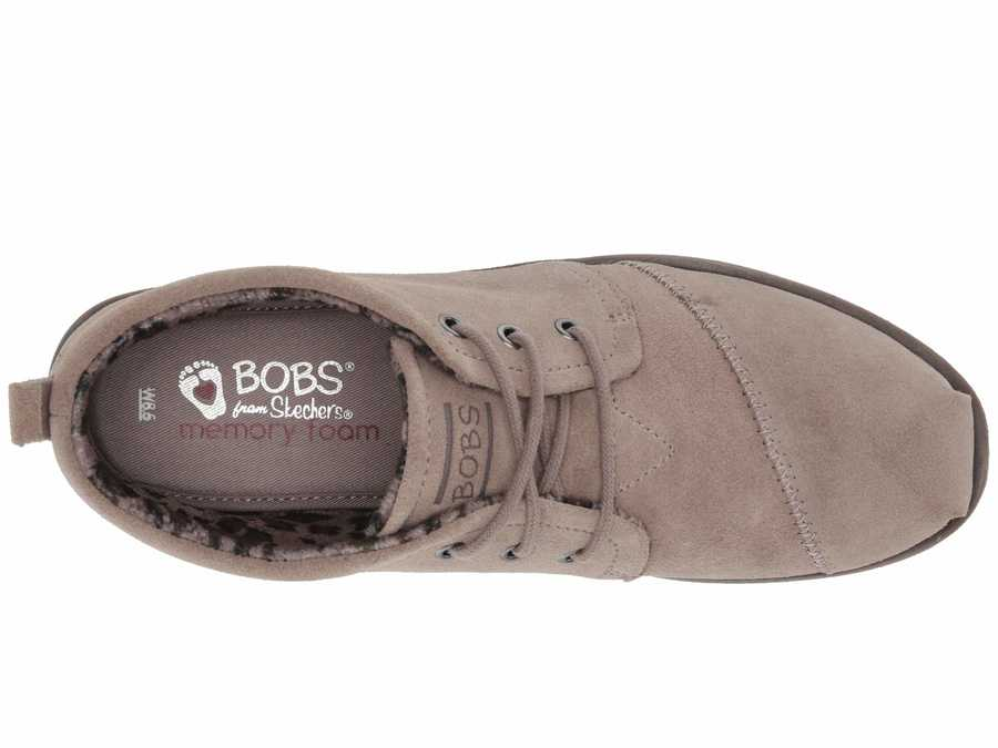 Bobs From Skechers Women Taupe Chill Luxe - Windy Roads Chukka Boots