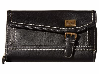 B.O.C. Black Amherst Deluxe Wallet Tri-Fold Wallet