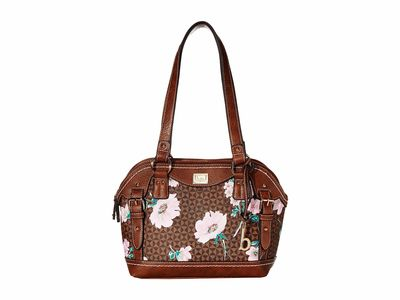 B.O.C. - B.O.C. Chocolate/Saddle Travis Floral Satchel Handbag