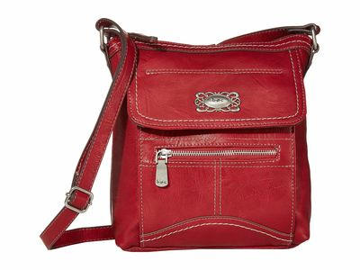 B.O.C. Red Bronson Organizer Cross Body Bag