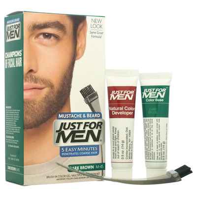 JUST FOR MEN - Brush-In Color Gel Mustache & Beard M-45 Dark Brown 1Application