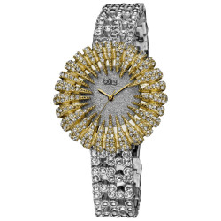Burgi Women's Dazzling Crystal Quartz Watch BUR054YG - Thumbnail