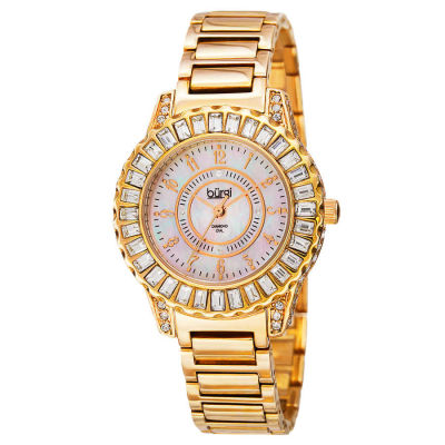 Burgi - Burgi Women's Swiss Quartz Diamond MOP Bracelet Watch BUR095YG