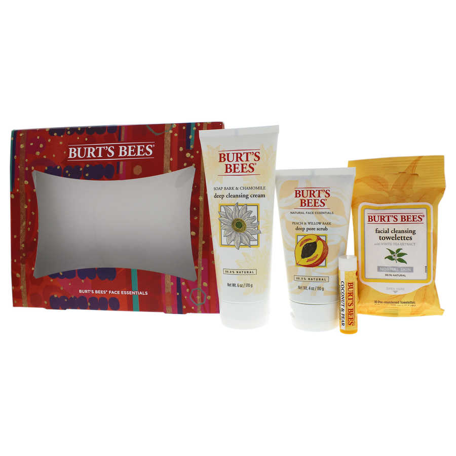 Burts Bees Face Essentials Set 4Pc Set