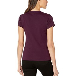Calvin Klein Aubergine Short Sleeve Cotton T-Shirt - Thumbnail