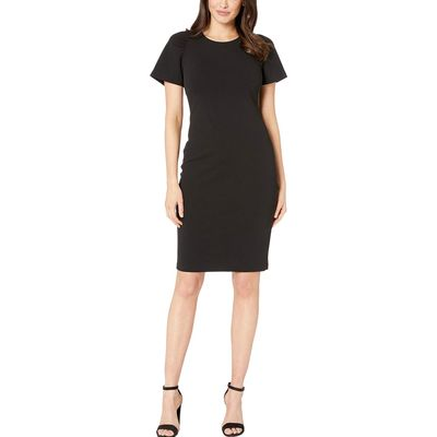 Calvin Klein - Calvin Klein Black Cap Sleeve Solid Dress