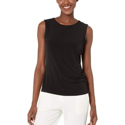 Calvin Klein Black Cinched Side Ity Blouse - Thumbnail