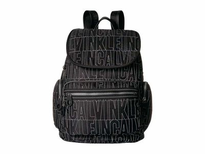 Calvin Klein - Calvin Klein Black Quilt Athleisure Quilted Nylon Backpack