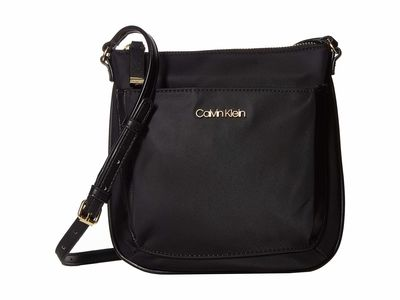 Calvin Klein - Calvin Klein Black/Black Abby Nylon Cross Body Bag