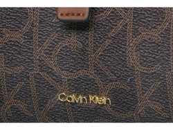 Calvin Klein Brown Khaki Photo Nylon Messenger Messenger Bag - Thumbnail