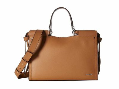 Calvin Klein - Calvin Klein Buff Callie Mercury Leather Satchel Satchel Handbag