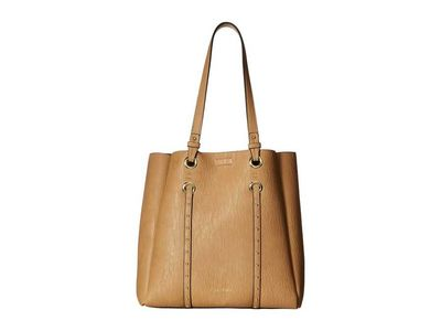 Calvin Klein - Calvin Klein Cashew Novelty Studded North/South Tote Handbag