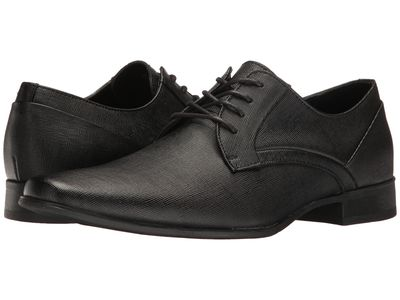 Calvin Klein - Calvin Klein Men Black Weave Embossed Benton Oxfords
