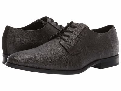 Calvin Klein - Calvin Klein Men Dark Brown Small Tumbled Leather Langston Oxfords