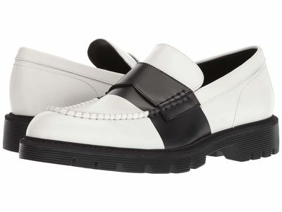 Calvin Klein Men White Box Leather Florentino Loafers
