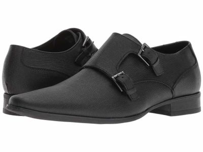 Calvin Klein - Calvin Klein Men's Black Weave Butler Oxfords
