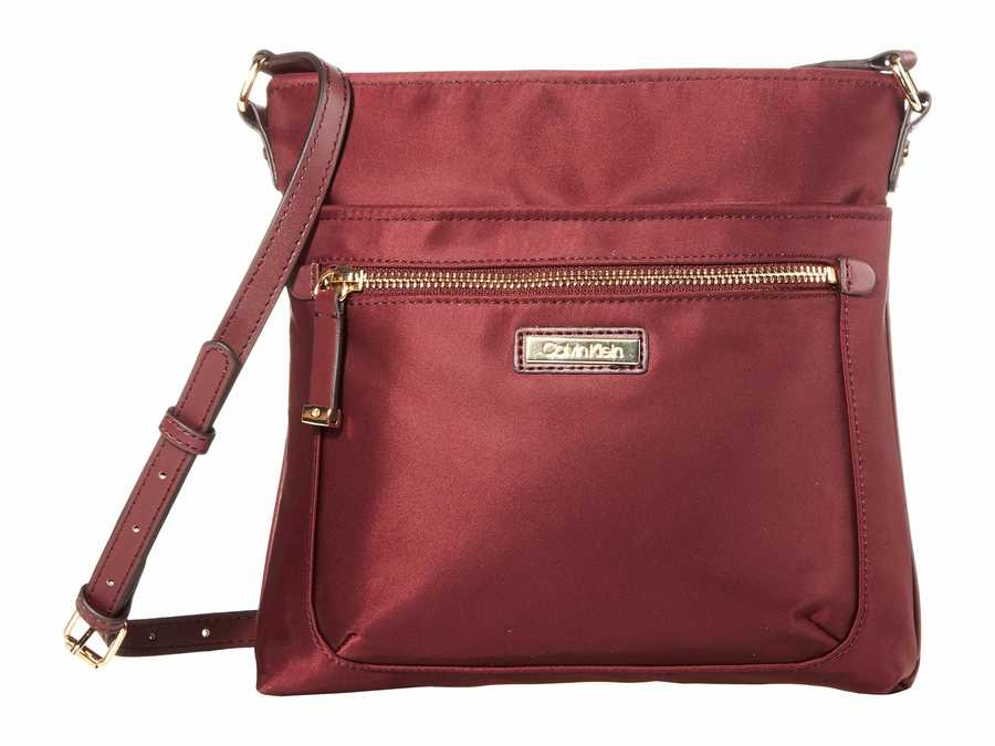 Calvin Klein Merlot Nylon Cross Body Bag
