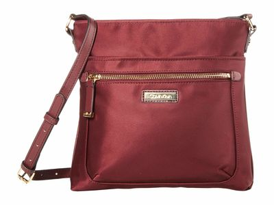 Calvin Klein - Calvin Klein Merlot Nylon Cross Body Bag