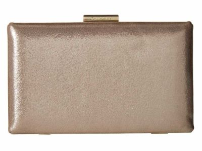 Calvin Klein - Calvin Klein Mica (Grey) Dusted Suede Box Clutch Bag