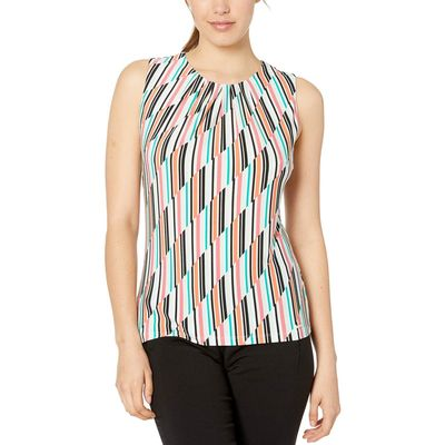 Calvin Klein - Calvin Klein Mint Multi Pleat Neck Cami