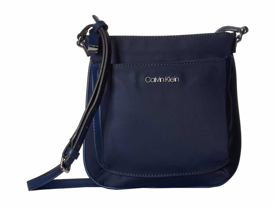 Calvin Klein Navy Abby Nylon Cross Body Bag