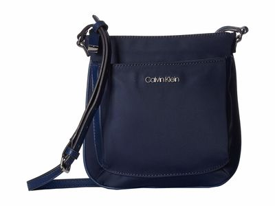 Calvin Klein - Calvin Klein Navy Abby Nylon Cross Body Bag