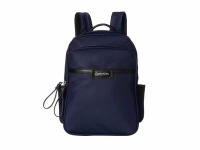 Calvin Klein - Calvin Klein Navy Lane Nylon Backpack