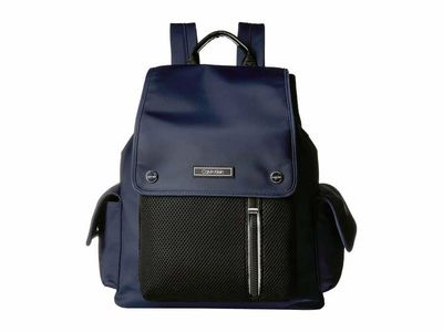 Calvin Klein - Calvin Klein Navy Tali Nylon Cargo Pocket Backpack