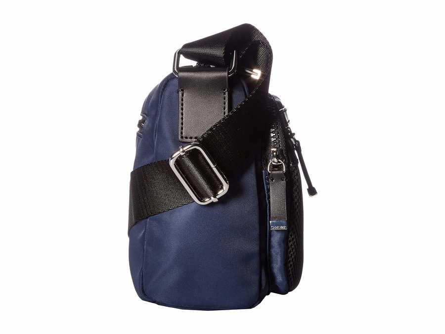 Calvin Klein Navy Tali Nylon Messenger Cross Body Bag