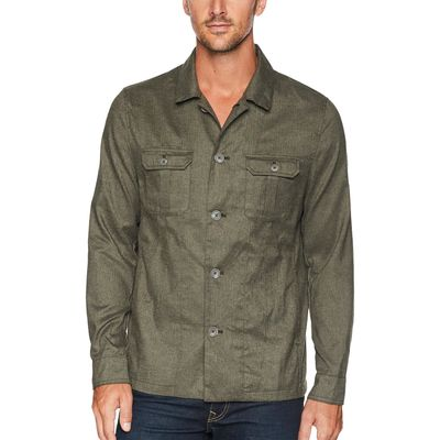 Calvin Klein - Calvin Klein Oak Leaf Heather Military Shirt Jacket