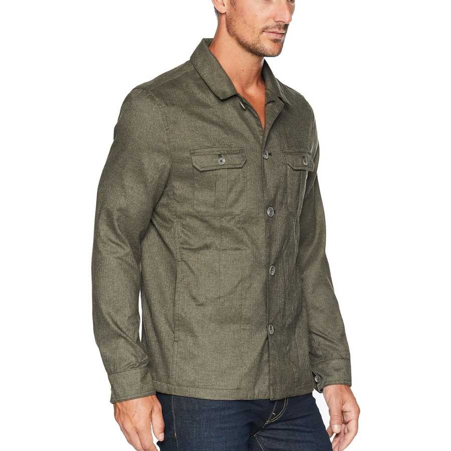 Calvin Klein Oak Leaf Heather Military Shirt Jacket