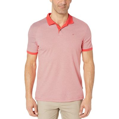 Calvin Klein - Calvin Klein Poinsetta The Liquid Touch Polo Feeder Stripe
