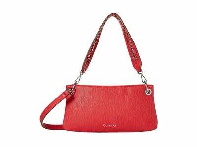 Calvin Klein - Calvin Klein Red Raya Bubble Lamb Novelty Demi Cross Body Bag