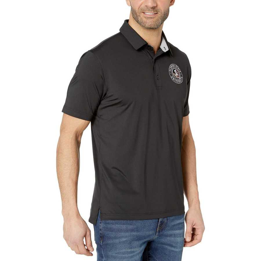 Champion College Black Florida State Seminoles Solid Polo