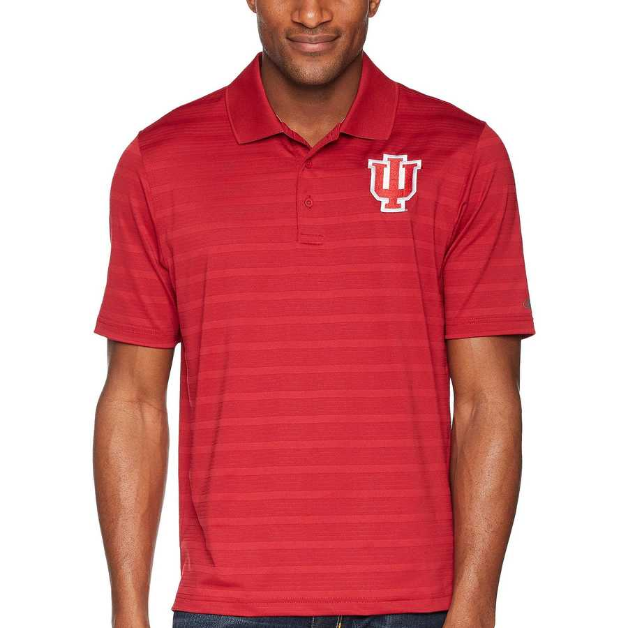 Champion College Cardinal Indiana Hoosiers Textured Solid Polo