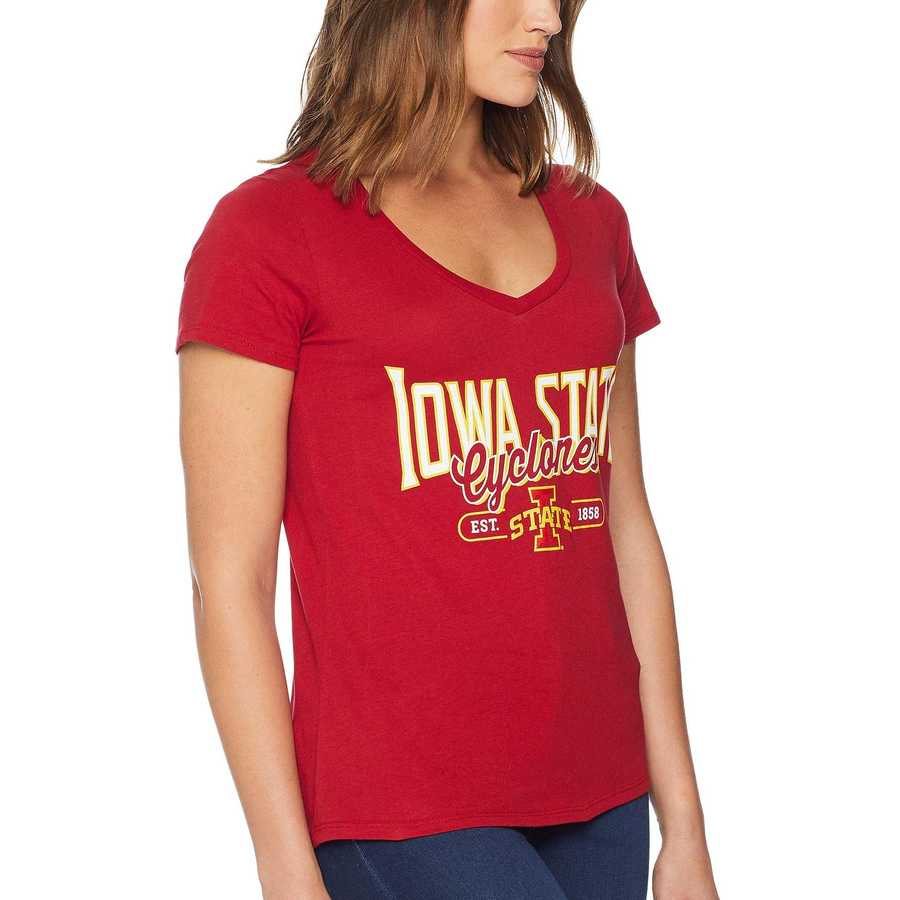 Champion College Cardinal Iowa State Cyclones University V-Neck Tee