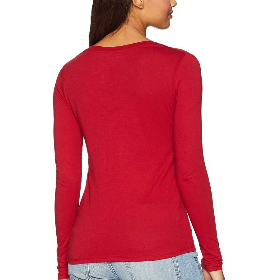 Champion College Cardinal Oklahoma Sooners Long Sleeve V-Neck Tee
