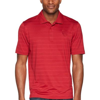 Champion College Cardinal Oklahoma Sooners Textured Solid Polo