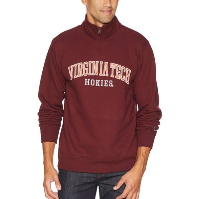 Champion College - Champion College Maroon Virginia Tech Hokies Powerblend 1/4 Zip