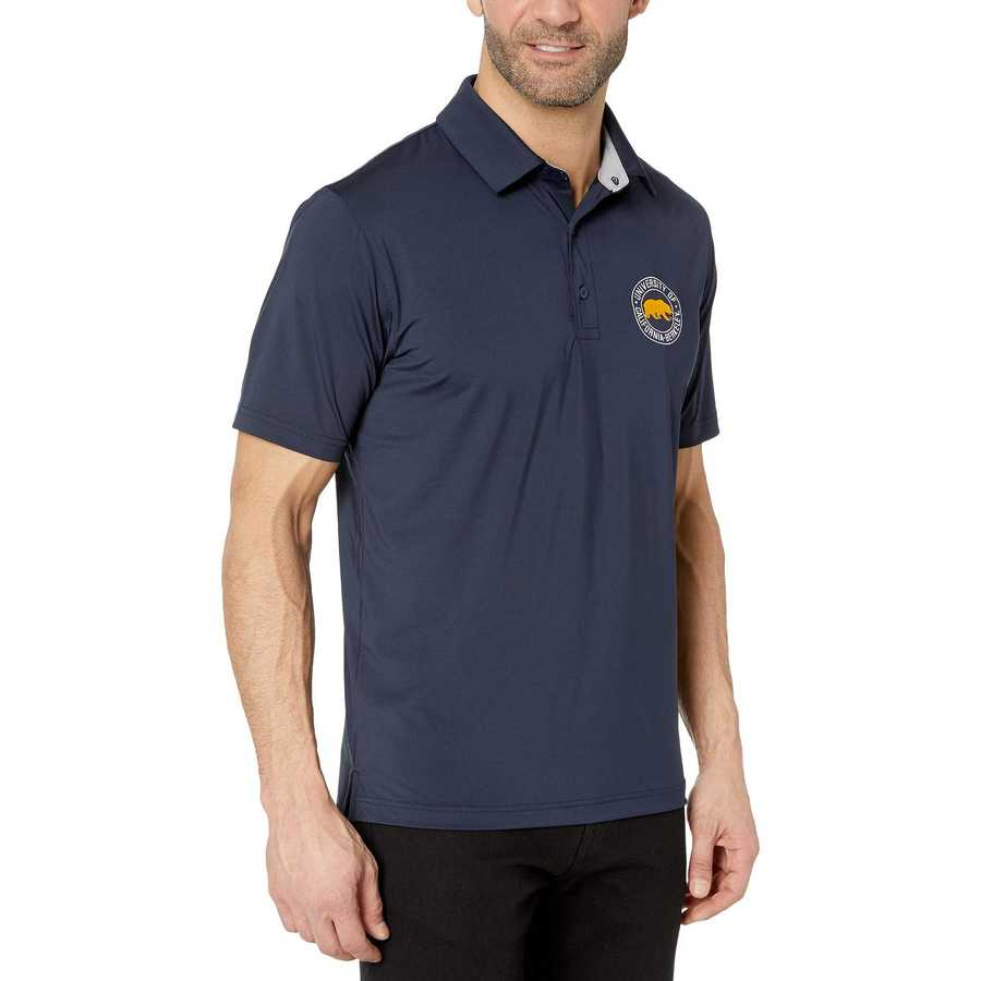 Champion College Navy Cal Bears Solid Polo