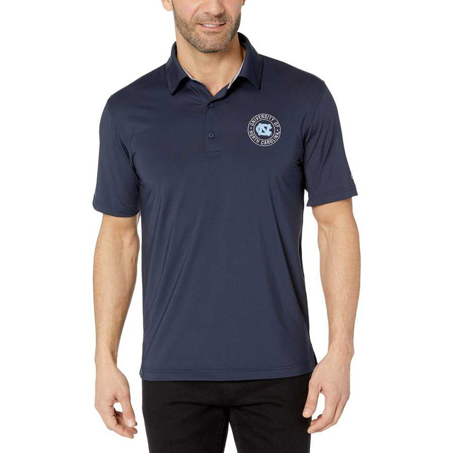 Champion College Navy North Carolina Tar Heels Solid Polo
