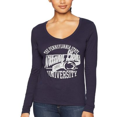 Champion College Navy Penn State Nittany Lions Long Sleeve V-Neck Tee