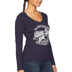 Champion College Navy Penn State Nittany Lions Long Sleeve V-Neck Tee - Thumbnail