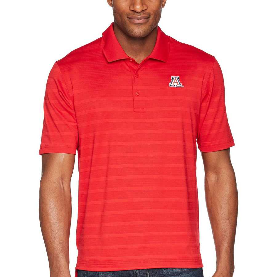 Champion College Scarlet Arizona Wildcats Textured Solid Polo