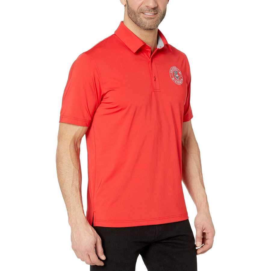 Champion College Scarlet Wisconsin Badgers Solid Polo