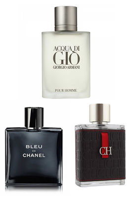 Best Perfume - Chanel - Giorgio Armani - Carolina Herrera Men Perfume Set