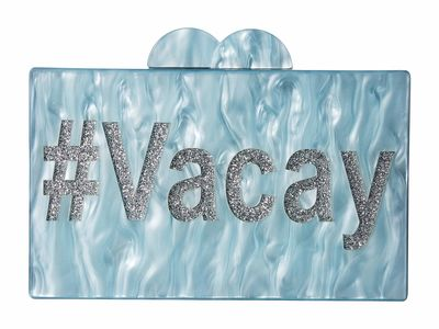 Circus By Sam Edelman Baby Blue #Vacay Acrylic Case Clutch Bag
