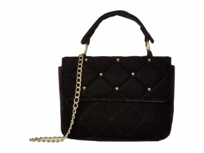 Circus By Sam Edelman - Circus by Sam Edelman Black Mariah Quilt Velvet Crossbody Shoulder Bag