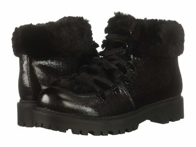 Circus By Sam Edelman - Circus By Sam Edelman Women Black Cosmic Crackle/Plush Faux Fur Kilbourn Lace Up Boots