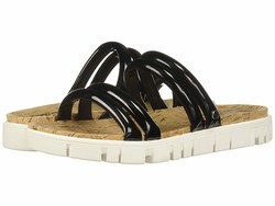 Circus By Sam Edelman Women Black Patent Narina Flat Sandals - Thumbnail